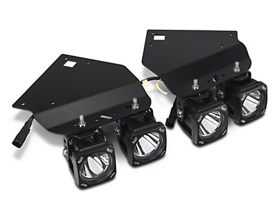 Vision X Fog Light Mounting Kit w/ 4 in. Square LED Lights (10-14 F-150 Raptor)