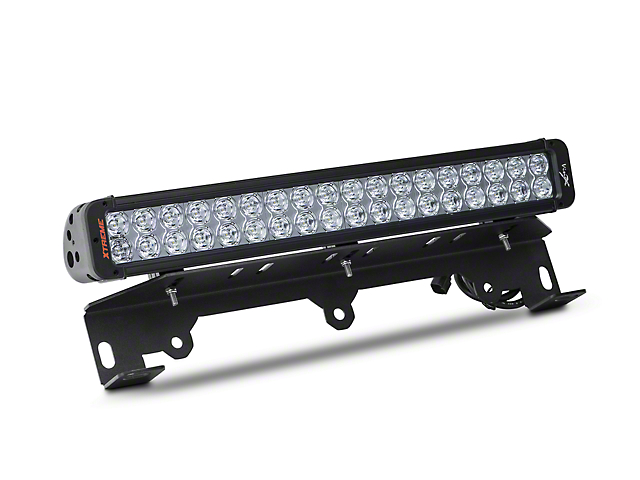 vision x f 150 bumper light bar mount w 20 in led light bar xil