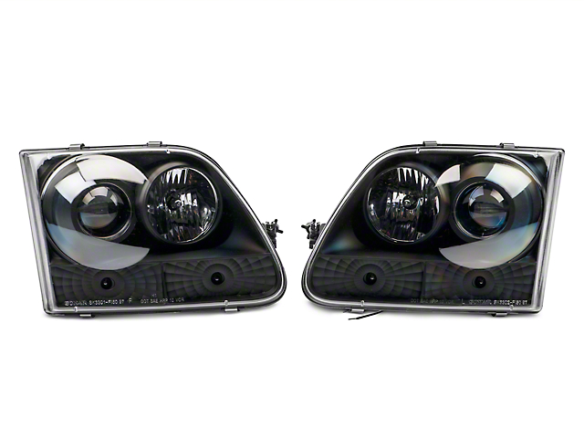 Axial Black Projector Headlights with Halo (97-03 All)