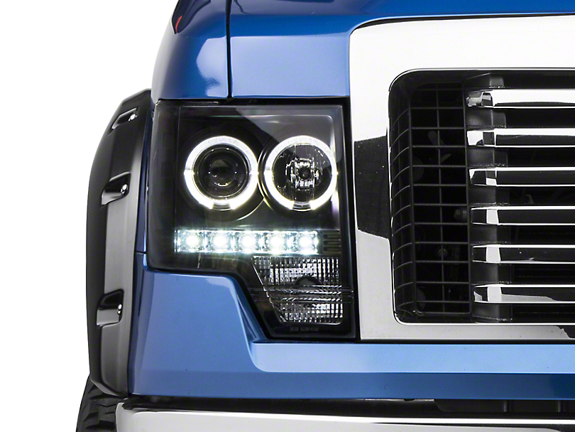 Axial Black Projector Headlights w/ Halo (09-14 w/o Factory HID)