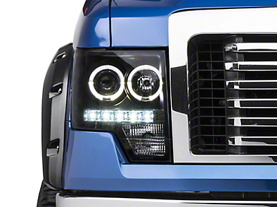 Axial Black Projector Headlights w/ Halo (09-14 F-150 w/o Factory HID)