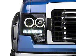 Axial Halo Projector Headlights; Black (09-14 F-150 w/o Factory HID Headlights)