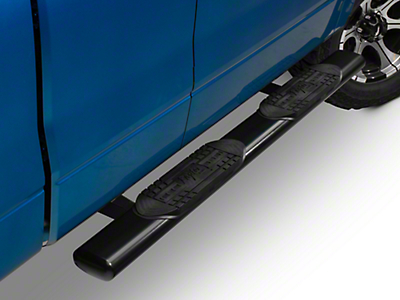 Raptor Series 6 in. Cab Length Oval Tube Side Steps - Black (04-14 SuperCab, SuperCrew)
