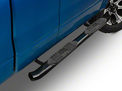 Raptor Series 4 in. Cab Length OE Style Oval Tube Side Steps - Black (04-14 All)