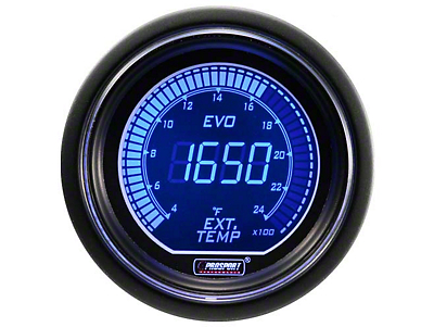 Dual Color Digital Exhaust Gas Temp Gauge - Electrical - Blue/Red (97-18 F-150)