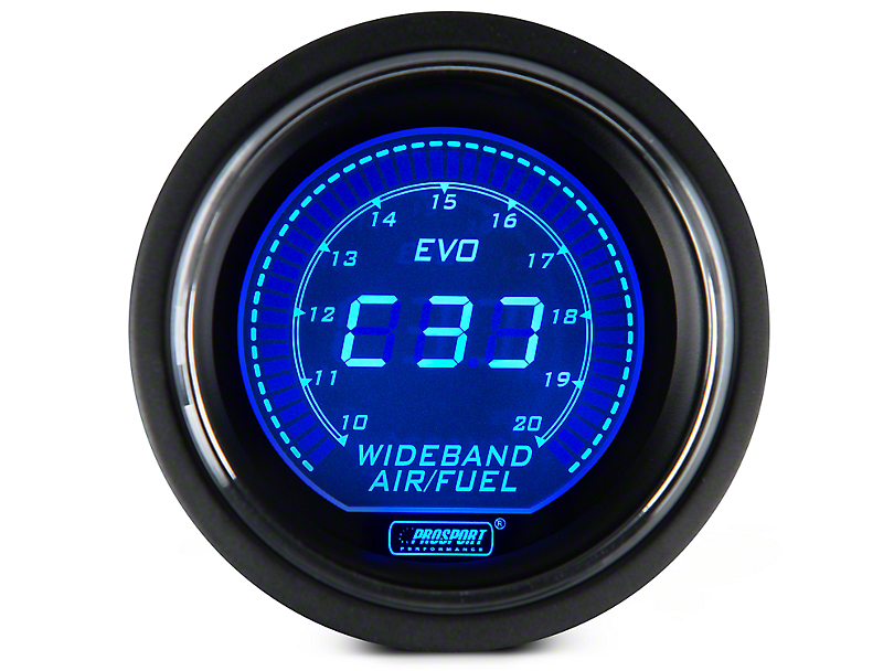 Dual Color Digital Wideband Air Fuel Ratio Gauge - Blue/Red (97-18 All)