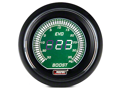 Dual Color Digital Boost/Vac Gauge - Electrical - Green/White (97-17 All)