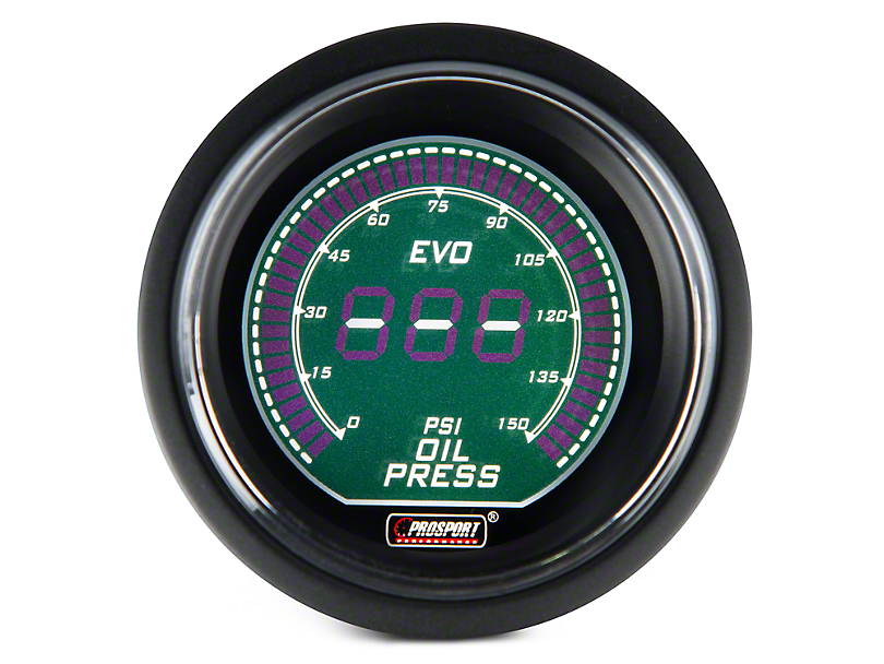 Dual Color Digital Oil Pressure Gauge - Electrical - Green/White (97-18 F-150)