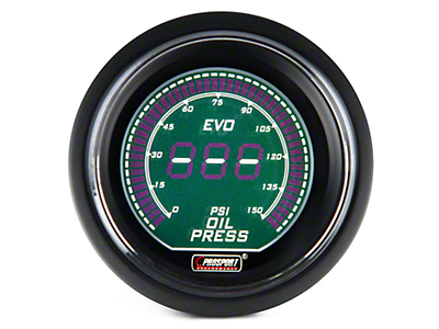 Dual Color Digital Oil Pressure Gauge - Electrical - Green/White (97-18 All)