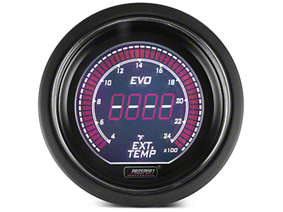 Dual Color Digital Exhaust Gas Temp Gauge - Electrical - Green/White (97-18 All)