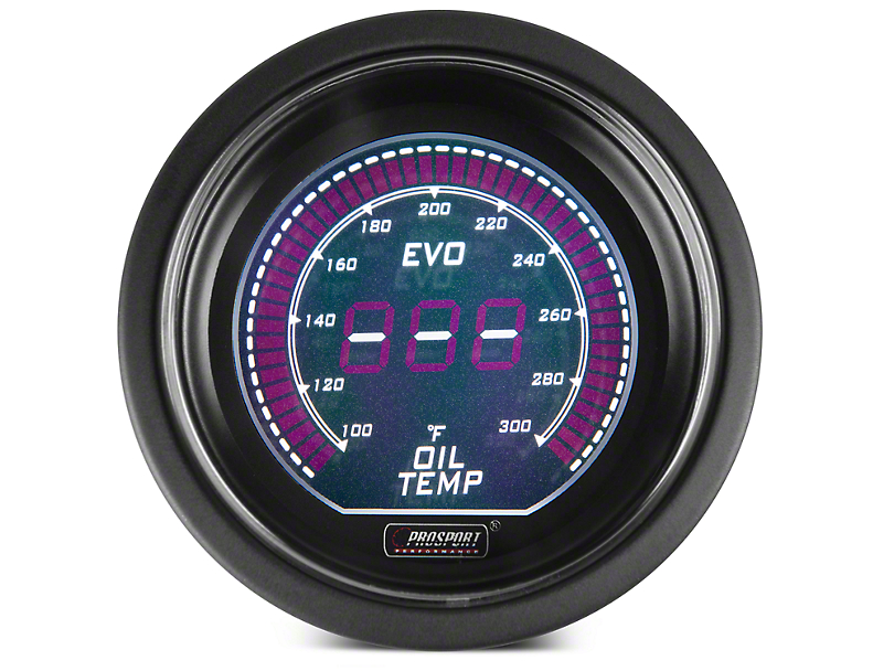 Dual Color Digital Oil Temp Gauge - Electric, Green/White (97-17 All)