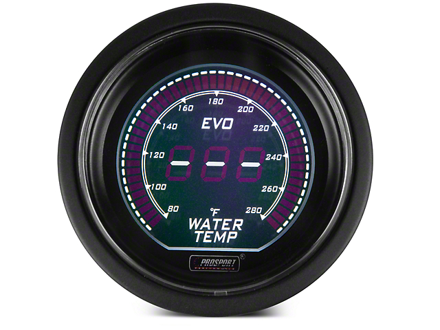 Dual Color Digital Water Temp Gauge - Electrical - Green/White (97-18 All)