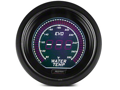 Dual Color Digital Water Temp Gauge - Electric, Green/White (97-17 All)