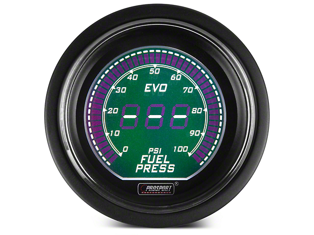 Dual Color Digital Fuel Pressure Gauge - Electrical - Green/White (97-18 F-150)