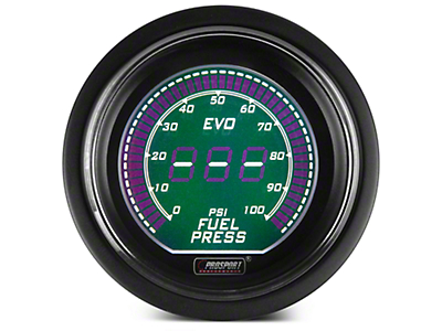Dual Color Digital Fuel Pressure Gauge - Electrical - Green/White (97-18 All)
