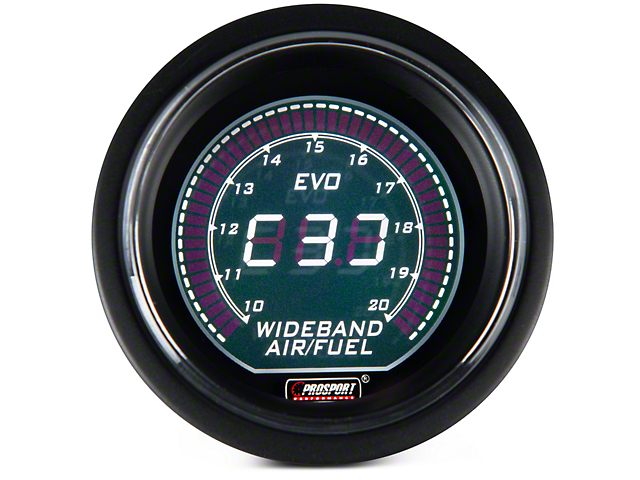 Dual Color Wideband Air/Fuel Ratio Gauge - Digital, Green/White (97-17 All)