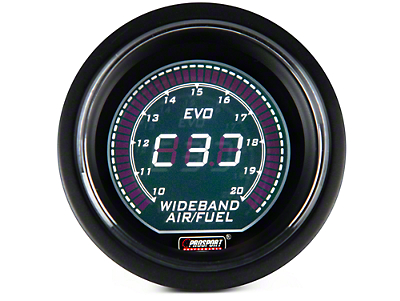 Dual Color Digital Wideband Air/Fuel Ratio Gauge - Green/White (97-18 F-150)