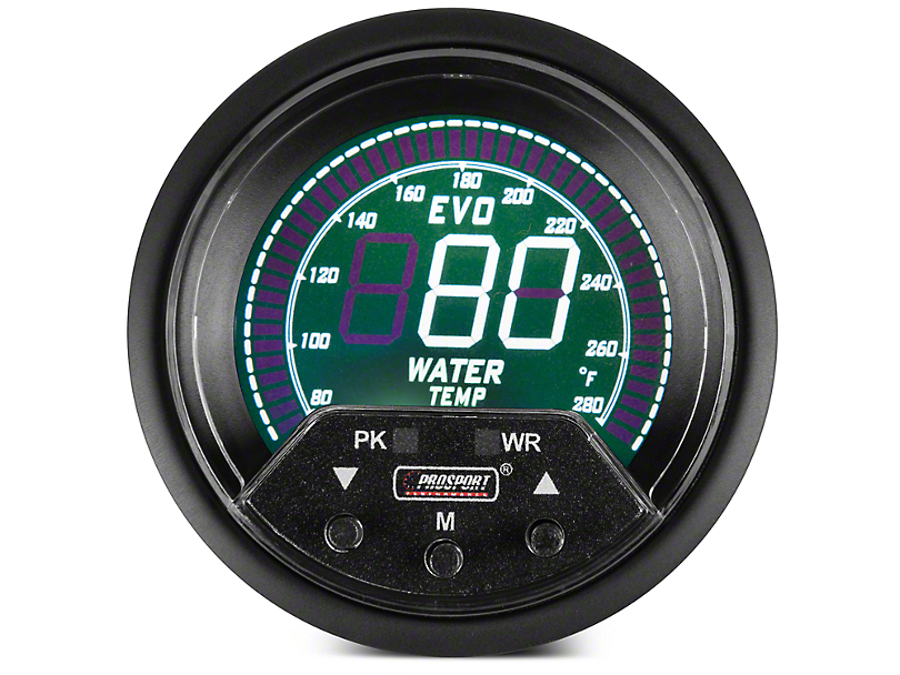 Premium Quad Color Digital Water Temp Gauge - Electrical (97-18 All)