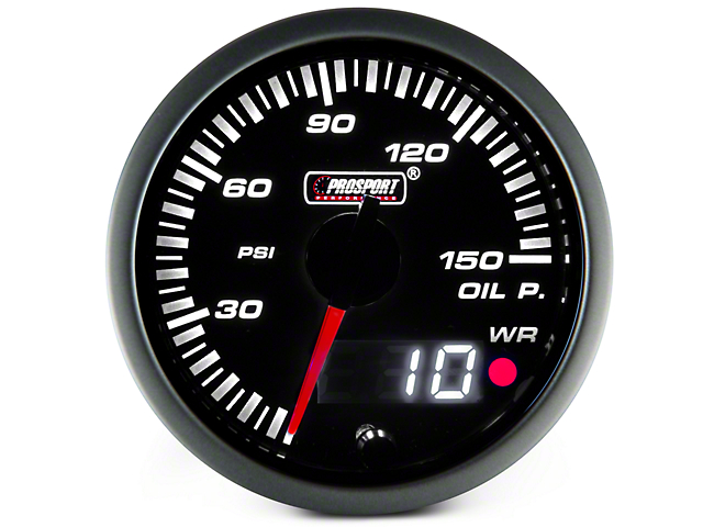Dual Display Oil Pressure Gauge - Electrical - Amber/White (97-18 All)