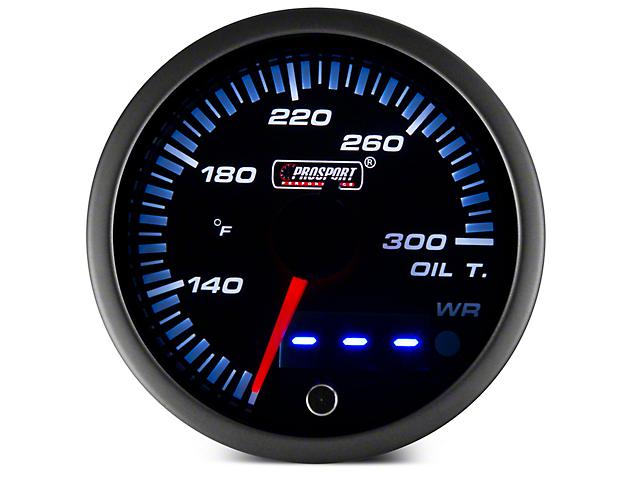 Dual Display Oil Temp Gauge - Electrical - Amber/White (97-17 All)