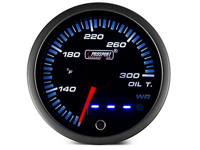 Dual Display Oil Temp Gauge - Electrical - Amber/White (97-18 F-150)