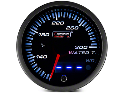 Dual Display Water Temp Gauge - Electric, Amber/White (97-17 All)