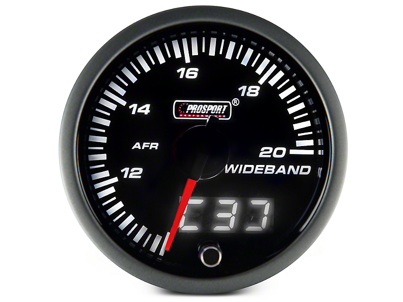 Dual Display Gauge - Wideband Air Fuel Ratio, Amber/White (97-17 All)
