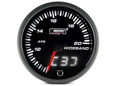 Dual Display Wideband Air Fuel Ratio Gauge - Amber/White (97-17 All)