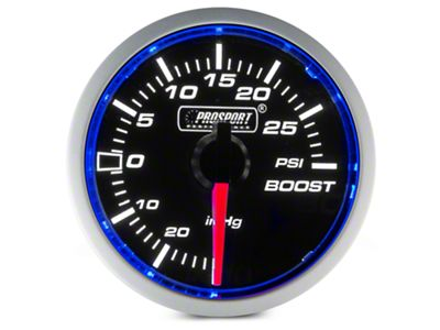 Dual Color 30 PSI Boost/Vac Gauge - Electrical - Blue/White (97-19 F-150)