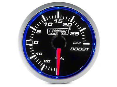 Dual Color 30 PSI Boost/Vac Gauge - Electrical - Blue/White (97-17 All)