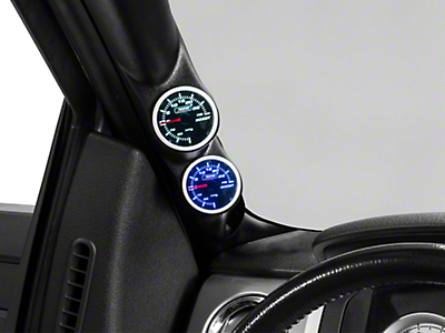 Dual Color Gauge - Boost/Vac, Mechanical, Blue/White (97-17 All)