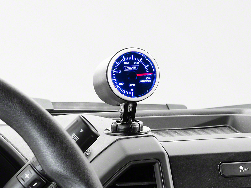 Dual Color Gauge - Oil Pressure, Electrical, Blue/White (97-17 All)