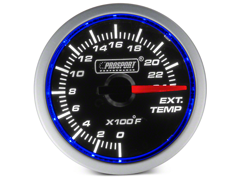 Dual Color Exhaust Gas Temperature Gauge - Electrical - Blue/White (97-18 All)