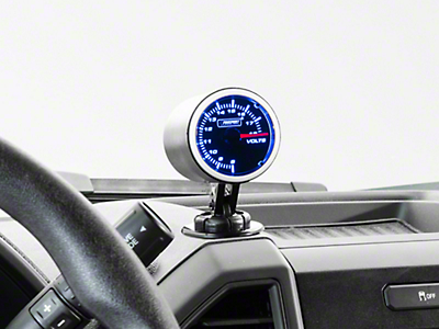 Dual Color Voltmeter Gauge - Electric, Blue/White (97-17 All)