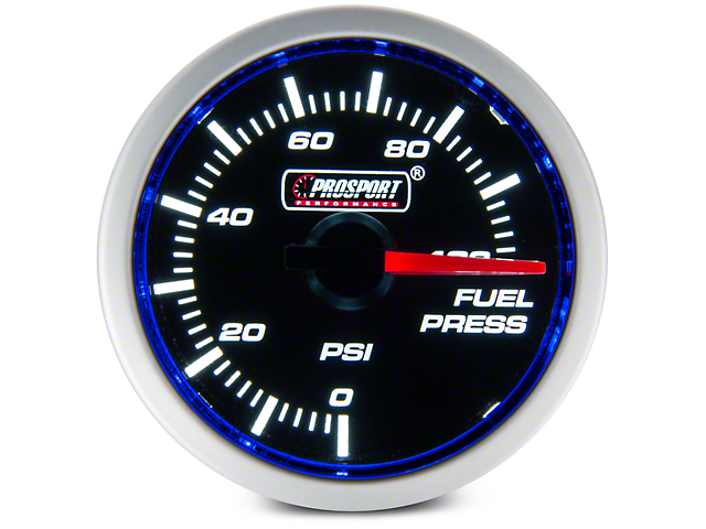 Dual Color Gauge - Fuel Pressure, Electrical, Blue/White (97-17 All)