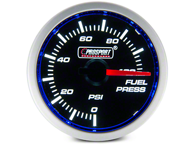 Dual Color Fuel Pressure Gauge - Electrical - Blue/White (97-17 All)