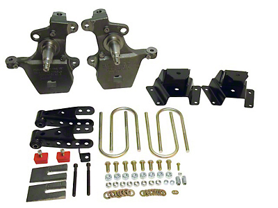 Belltech Stage 1 Lowering Kit - 2 in. Front / 4 in. Rear (97-03 2WD V8 Regular Cab, SuperCab, Excluding Lightning & Harley Davidson)