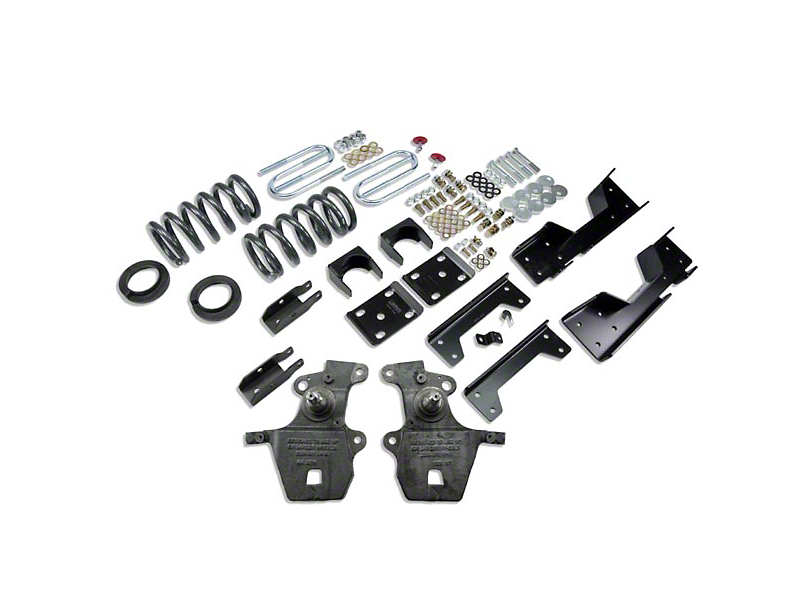 Belltech Stage 1 4 in. or 5 in. Front / 6 in. Rear Lowering Kit (97-03 2WD V8 Regular Cab, SuperCab, Excluding Lightning & Harley-Davidson)