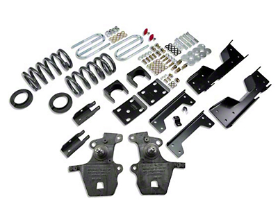 Belltech Stage 1 4 in. or 5 in. Front / 6 in. Rear Lowering Kit (01-03 2WD V8 SuperCrew, Excluding Harley Davidson)