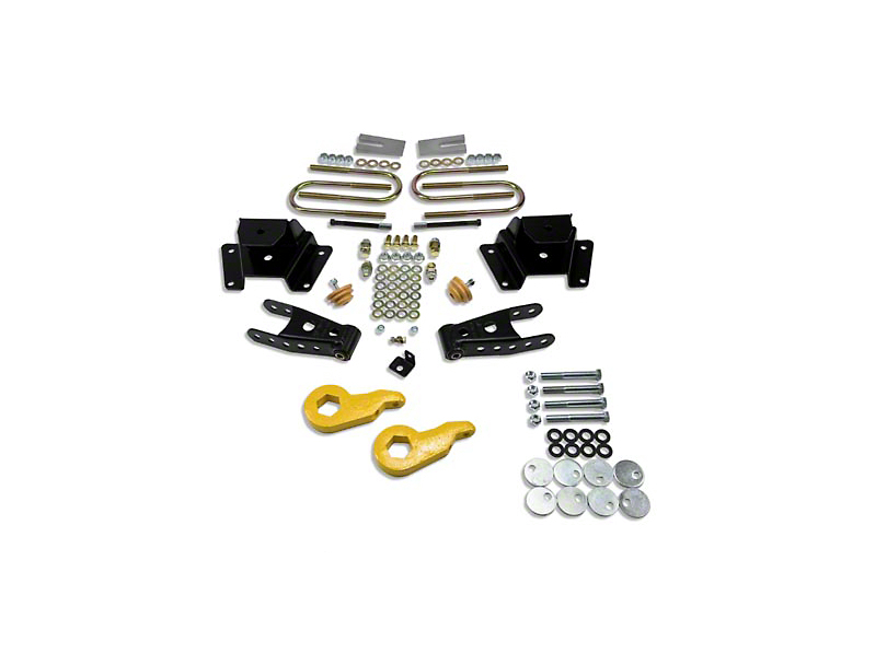 Belltech Stage 1 Lowering Kit - 1 in. or 3 in. Front / 3 in. Rear (97-03 4WD V8)