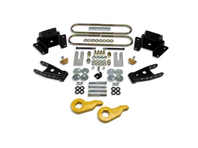 Belltech Stage 1 Lowering Kit - 1 in. or 3 in. Front / 4 in. Rear (97-03 4WD V8 F-150)