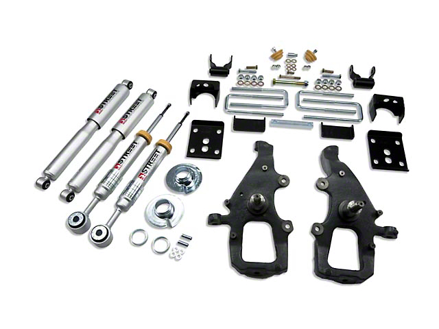Belltech Stage 3 +1 in. to - 4 in. Front / 5.5 in. Rear Lowering Kit w/ Street Performance Shocks (04-08 2WD)