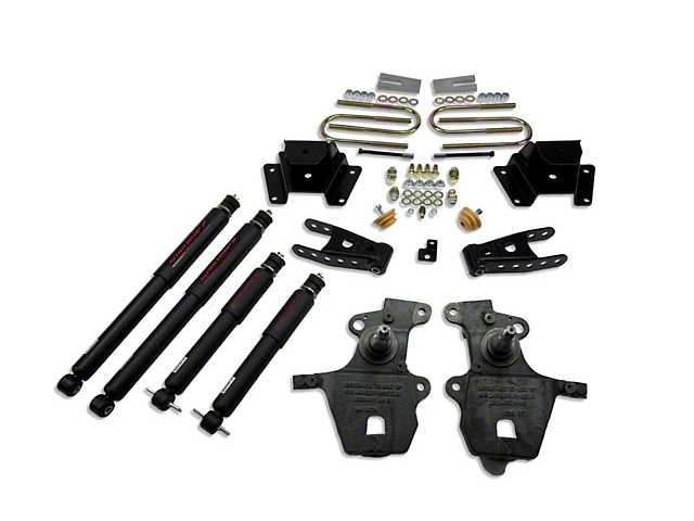 Belltech Stage 2 Lowering Kit w/ Nitro Drop 2 Shocks - 2 in. Front / 4 in. Rear (97-03 2WD V8, Excluding Lightning & Harley Davidson)