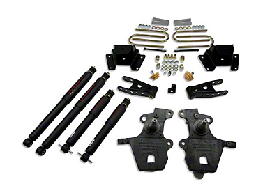 Belltech Stage 2 Lowering Kit w/ Nitro Drop 2 Shocks - 2 in. Front / 4 in. Rear (97-03 2WD V8, Excluding Lightning & Harley Davidson)