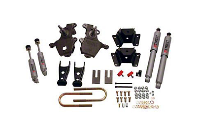 Belltech Stage 3 2 in. Front / 4 in. Rear Lowering Kit w/ Street Performance Shocks (97-03 2WD V8, Excluding Lightning & Harley Davidson)