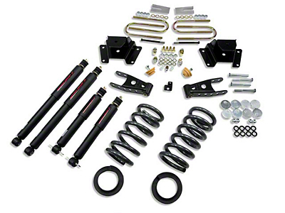 Belltech Stage 2 2 in. or 3 in. Front / 4 in. Rear Lowering Kit w/ Nitro Drop 2 Shocks (97-03 2WD V8, Excluding Lightning & Harley Davidson)