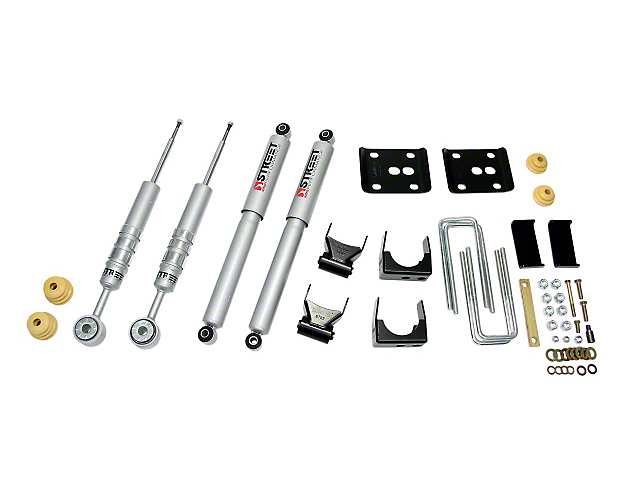 Belltech Stage 3 2 in. or 3 in. Front / 4 in. Rear Lowering Kit w/ Street Performance Shocks (97-03 2WD V8, Excluding Lightning & Harley Davidson)