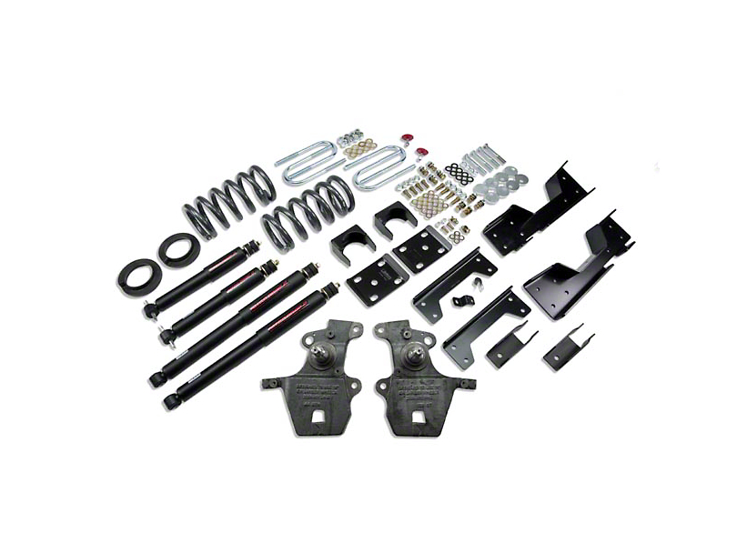 Belltech Stage 2 4 in. or 5 in. Front / 6 in. Rear Lowering Kit w/ Nitro Drop 2 Shocks (97-03 2WD V8, Excluding SuperCrew, Lightning & Harley-Davidson)