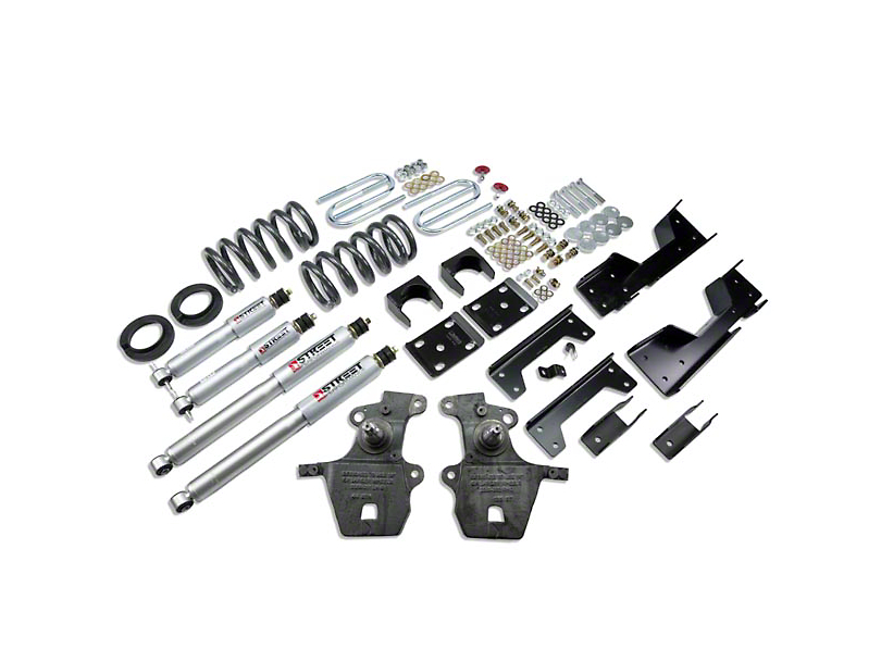 Belltech Stage 3 4 in. or 5 in. Front / 6 in. Rear Lowering Kit w/ Street Performance Shocks (97-03 2WD V8, Excluding SuperCrew, Lightning & Harley-Davidson)