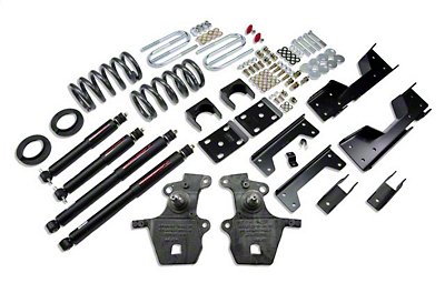 Belltech Stage 2 4 in. or 5 in. Front / 6 in. Rear Lowering Kit w/ Nitro Drop 2 Shocks (01-03 2WD V8 SuperCrew, Excluding Harley Davidson)
